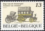 Belgium 1989 Stamp Day/ Mail Coach/ Post-chaise/ Postal Transport 1v (n43113)
