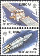 Belgium 1991 Europa/ Space/ Rocket/ Satellite/ Communications 2v set (n43154)