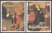 Belgium 1991 Red Cross Fund/ Welfare/ Health/ Paintings/ Art/ Birds/ Bosch/ Bouts/ Artists 2v set (n32563)