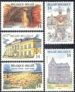 Belgium 1991 Tourism/ Waterfall/ Caves/ Buildings/ Festival/ Nature 5v set (n27145)