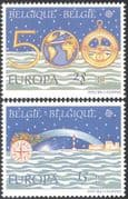 Belgium 1992 Europa/ Columbus/ Discovery of America/ Lighthouse/ Map 2v set (n43147)