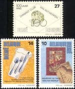 Belgium 1992 Tapestry/ Cooking/ Gastronomy/ Diamonds/ Gems/ Minerals/ Weaving/ Occupations/ Food 3v set (n45032)