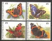Belgium 1993 Butterflies  /  Insects  /  Nature 4v set (n22515)