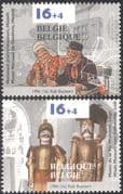 Belgium 1996 Gin/ Alcohol/ Drink/ Puppets/ Museum/ Theatre/S oldiers 2v set (n22919)