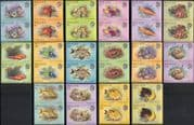 Belize 1984 Fish/ Corals/ Crabs/ Slug/ Nature/ Wildlife/ Marine 16v IMPERFORATE PAIRS (b9703b)