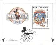 Bhutan 1989 Disney/ Mickey Mouse 60th/ Pluto/ Cats/ Kittens/ Films/ Cinema/ Cartoons 1v m/s (b4762w)