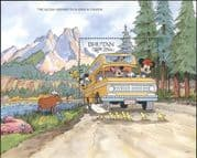 Bhutan 1991 Disney/ Alcan Highway/ Roads/ Cars/ Geese/ Moose/ Cartoons/ Transport 1v m/s (b413m)