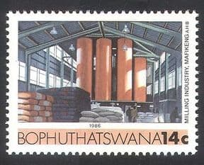 Bophuthatswana 1984 Industry  /  Commerce  /  Flour Mill  /  Food  /  Milling  /  Workers 1v n22654c
