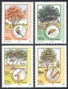 Bophuthatswana 1985 Trees  /  Plants  /  Bees  /  Insects  /  Bird  /  Nature 4v set (n18659)