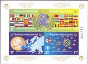 Bosnia Herzegovina 2005 Europa Stamps 50th/ Chess/ Money/ Coins/ Flags/ Maps imperf m/s (n34842a)