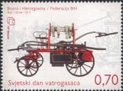 Bosnia Herzegovina 2013 Firefighters/ Firemen/ Fire Engines/ Emergency Rescue Vehicle/ Motoring/ Fireman 1v (b2756f)