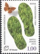 Bosnia Herzegovina 2015 Hiking/ Walking/ Tourism/ Leisure/ Grass/ Butterfly/ Nature/ Insects 1v (b2756y)