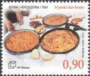 Bosnia Herzegovina 2015 World Food Day/ FAO/ UN/ Bread/ Wine/ Stew/ Baklava 1v (b2756w)