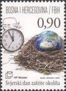 Bosnia Herzegovina 2016 Environment Day/ Nature/ Clock/ Conservation 1v (b2756v)