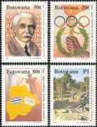 Botswana 1996 Olympic Games Centenary/ Olympics 100th/ Sports/ Map/ Ancient Stadium 4v set (n14589)