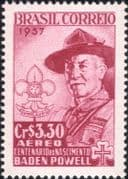 Brazil 1954  Lord Baden-Powell/ Scouts/ Scouting/ Youth/ Leisure/ People 1v (n46314)