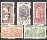 Brazil 1954 Sao Paulo  /  Buildings  /  Architecture  /  People  /  History  /  Arms 5v set (n38112)