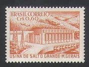 Brazil 1956 Hydro-Electric  /  Dam  /  Energy  /  Power  /  Commerce  /  Industry 1v (n35394)