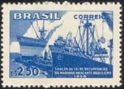 Brazil 1958 Merchant Navy/ Cargo Ships/ Transport/ Nautical/ Boats/ Tugs 1v (n28008)