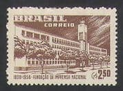 Brazil 1958 Printing Works  /  Building  /  Commerce  /  Industry 1v (n35395)