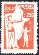 Brazil 1958 Tenth Spring Games/ Sports/ Archery /Leisure 1v (n28017)