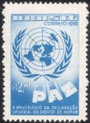Brazil 1958 UN/ Human Rights 10th Anniversary /Map/ Peace 1v (n28009)