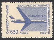 Brazil 1959 Plane  /  Aircraft  /  Aviation  /  Transport 1v n29473
