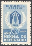 Brazil 1960 UN  /  WRY  /  Refugees  / People/  Welfare  /  Animation 1v n32001