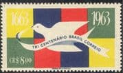 Brazil 1962 Tercentenary of Brazilian Posts/ Carrier Pigeon/ Mail/ Animated 1v (n28503)