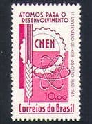 Brazil 1963 Nuclear Energy  /  Power  /  Atomic  /  Electricity  /  Industry 1v (n33788)