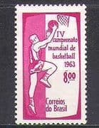 Brazil 1963 World Basketball Championships/ Sport/ Games 1v (n24601)