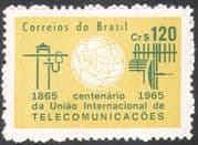 Brazil 1965 ITU-UIT/ Radio Aerial/ Telegraph/ Communications/ Telecomms 1v (n26711)