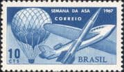 Brazil 1967  Aviation Week/ Aircraft/ Plane/ Hot Air Balloon/ Rocket/ Space 1v (n46315)