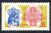Brazil 1967 Madonna  /  Poland Millenary  /  Cross  /  History  /  Animation  /  Religion 1v n38920