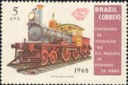 Brazil 1968  Sao Paulo Railway 100th/ Steam Engine/ Locomotive/ Trains/ Rail/ Transport 1v (n24164)