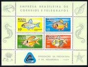 Brazil 1969 Fish  /  Marine  /  Nature  /  Wildlife 4v m  /  s (n29444)