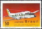 Brazil 1969 Planes/ Aircraft/ Aviation/ Transport/ Commerce/ Industry/ Business 1v (n25346)