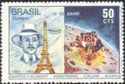 Brazil 1969 Space/ Apollo 11/ Moon Landing/ Santos Dumont/ Balloons/ Flight/ Transport/ People 1v (n29474)
