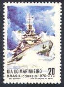 Brazil 1970 Ships  /  Boats  /  Navy  /  Military  /  Transport  /  Nautical 1v (n25345)
