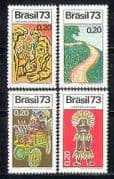 Brazil 1973 ITU-UIT  /  Carnival Cart  /  Road  /  Indian 4v n27984
