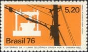 Brazil 1976 Telephone 100th Anniversary/ Alexander Graham Bell/ Communications 1v (n22832)