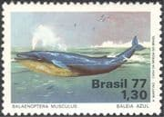 Brazil 1977 Blue Whale/ Wildlife/ Marine/ Sea Life/ Conservation/ Nature 1v (n24388)