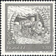 Brazil 1977   Rio - Sao Paulo Railway 100th/ Steam Engine/ Trains/ Rail/ Transport 1v (n46310)