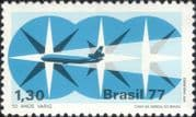 Brazil 1977  Varig Airline/ Planes/ Aircraft/ Aviation/ Transport/ Business 1v (n46318)
