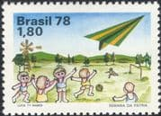 Brazil 1978 National Children's Week/ Football/ Toys/ Plane/ Games/ Sports 1v (n26578)