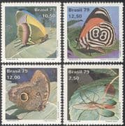 "Brazil 1979 ""Brasiliana '79""/ Butterflies/ Insects/ Nature/ Conservation/ Butterfly 4v set (b9340)"