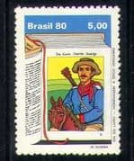 Brazil 1980 Horse  /  Cowboy  /  Music  /  Books Day  /  Writers  /  Literature 1v (n28060)