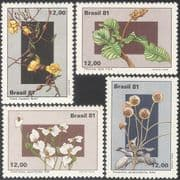 Brazil 1981 Flowers/ Plants/ Nature/ Vines 4v set (n43520)