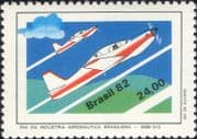 Brazil 1982  Embraer/ Planes/ Aircraft/ Aviation/ Transport/ Industry/ Business 1v (n46317)