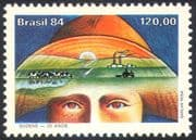 Brazil 1984 Cattle /Tractor/ Farming/ Farmer/ Animals/ Animation 1v (n27813)